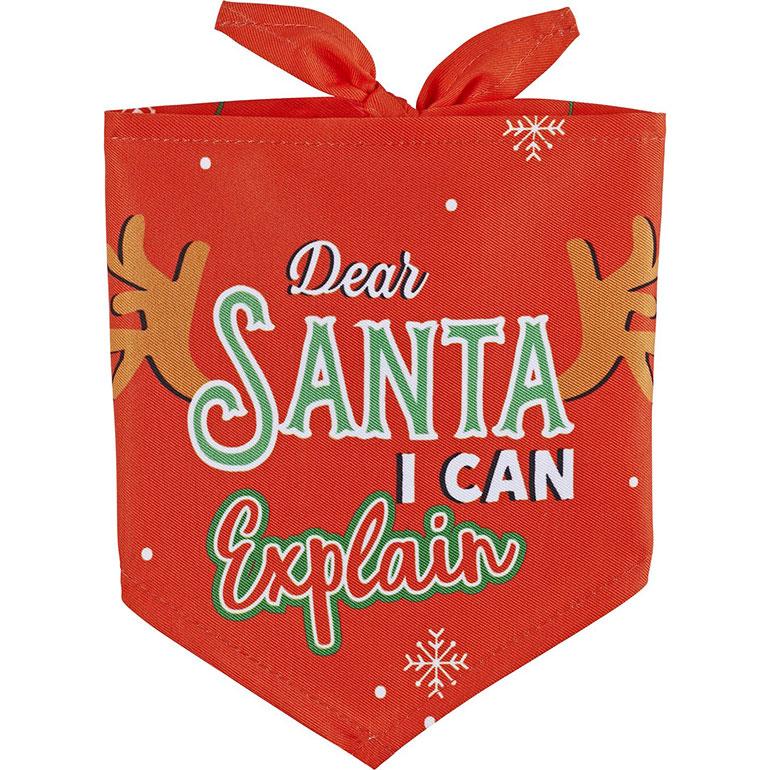 Frisco Dear Santa I Can Explain Dog Bandana