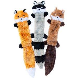 ZippyPaws Skinny Peltz No Stuffing Squeaky Dog Toys