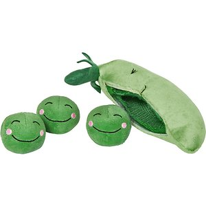 Frisco Plush Squeaking 2-in-1 Tearable Peapod and Peas