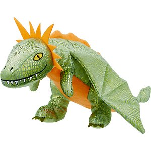 Frisco Mythical Mates Greenwing the Green Dragon Plush Squeaking Dog Toy