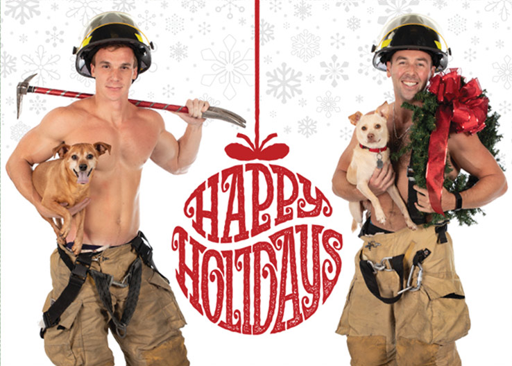 Hunky Holiday Cards