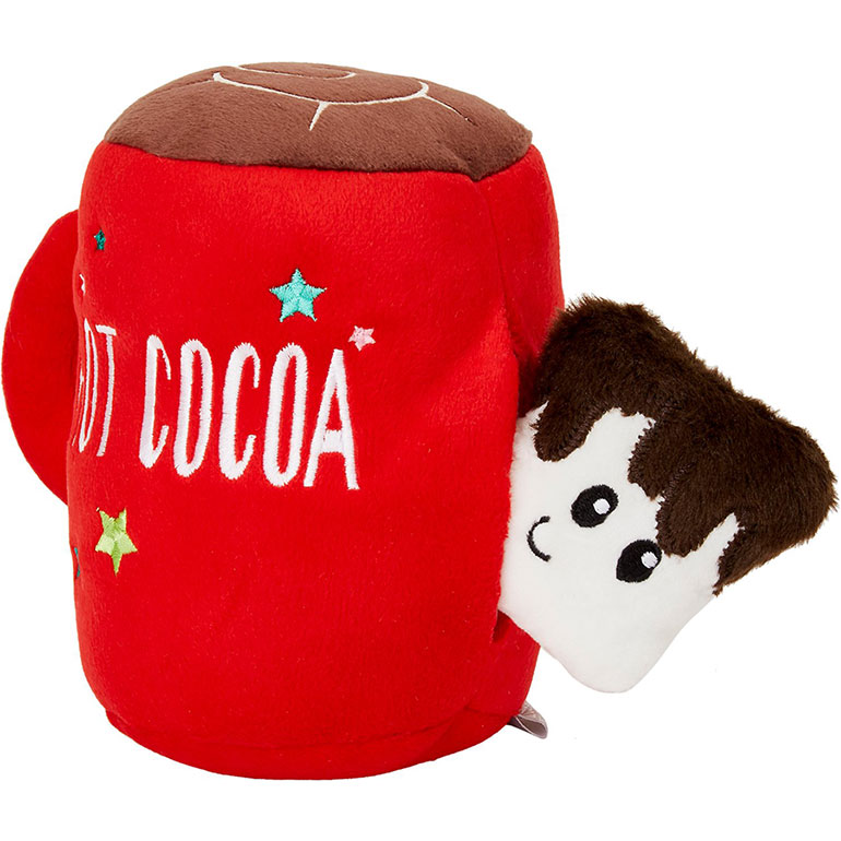 Frisco Holiday Hot Cocoa Tearable 2-in-1 Plush Squeaky Dog Toy