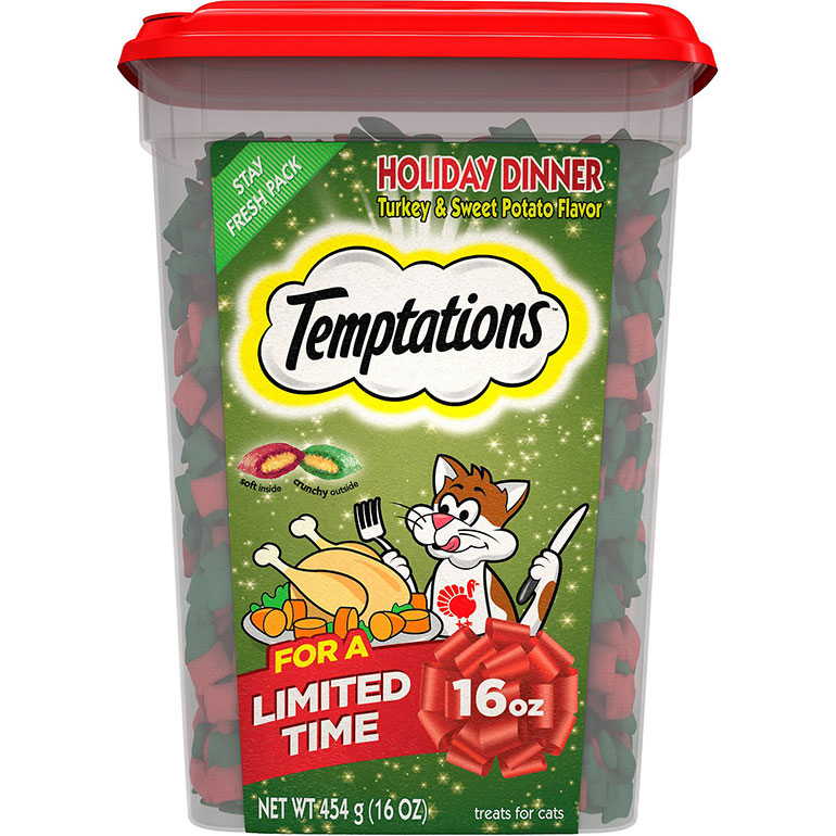 Temptations Holiday Dinner Turkey & Sweet Potato Flavor Cat Treats