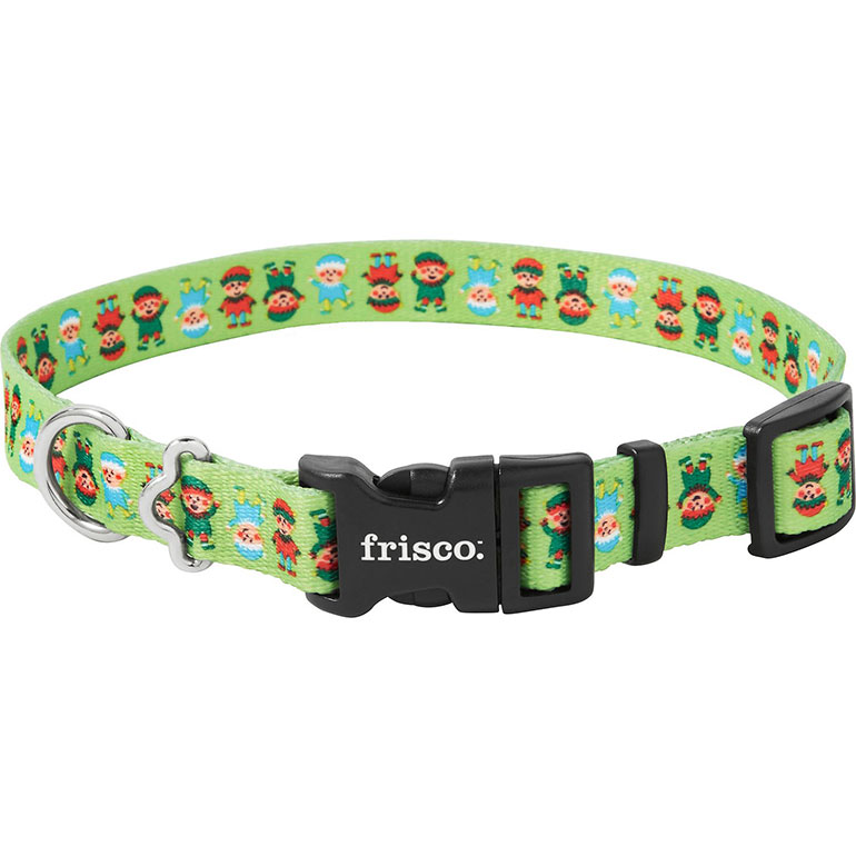 Frisco Santa's Elves Polyester Dog Collar