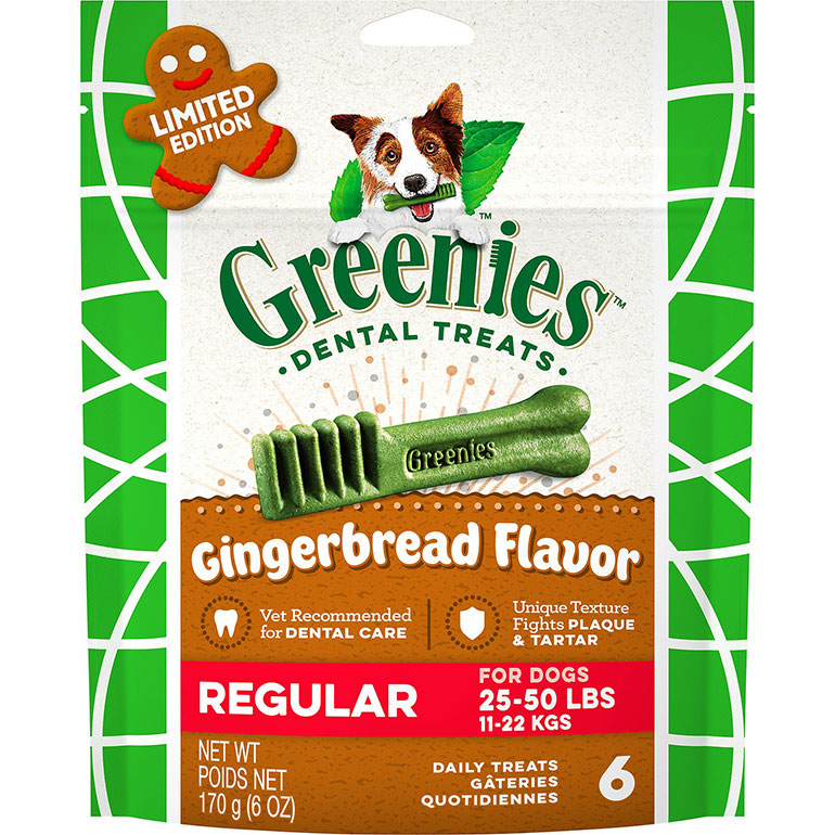Greenies Seasonal Gingerbread Flavor Dental Dog Treats