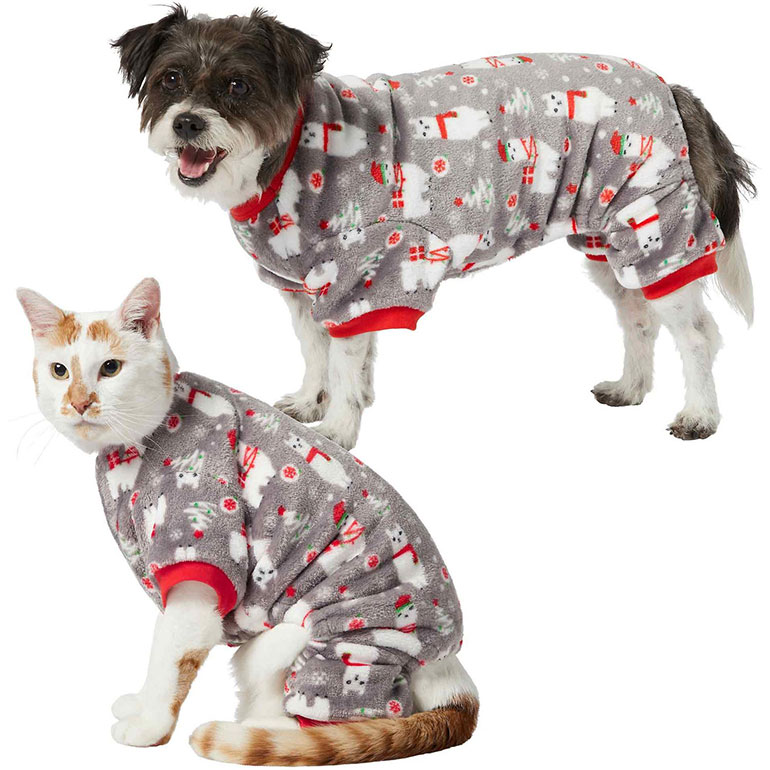 Frisco Holiday Llama Dog & Cat Cozy Fleece PJs