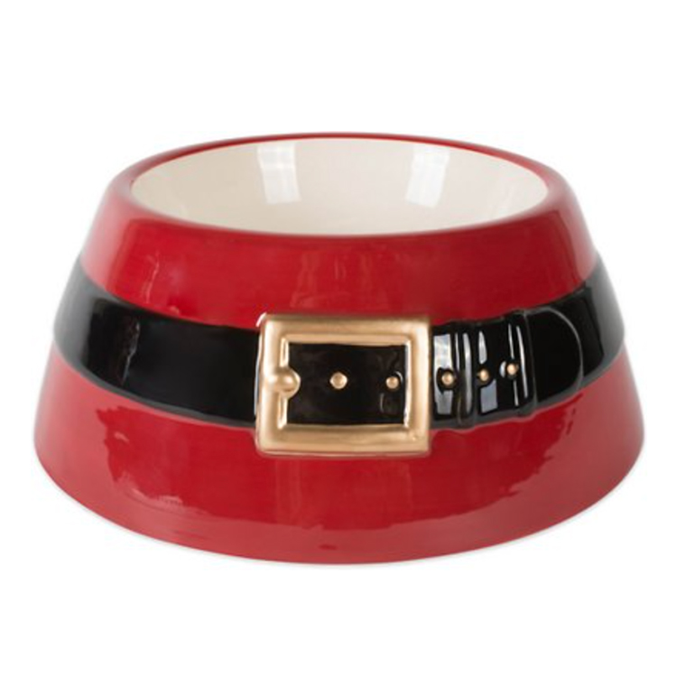 Design Imports Santa Belt Pet Bowl