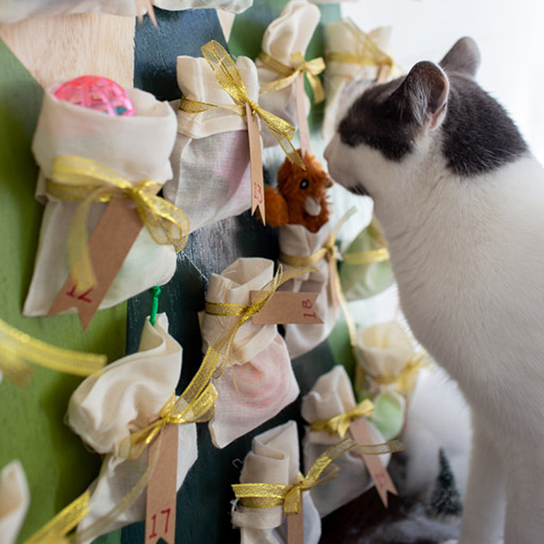 Hang the goodie-filled bags.