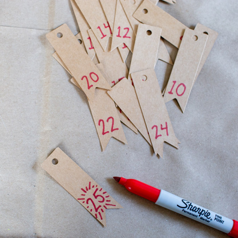 Write numbers on your gift tags