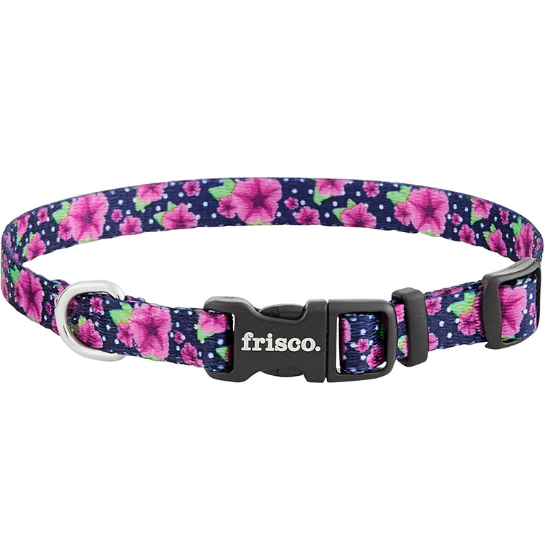 Frisco Patterned Polyester Dog Collar