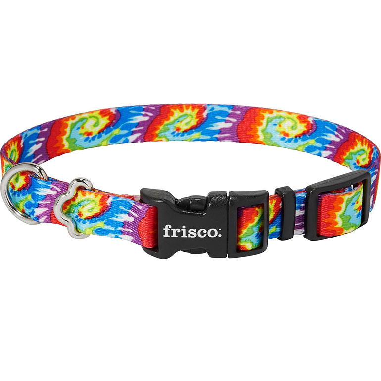Frisco Tie Dye Swirl Polyester Dog Collar