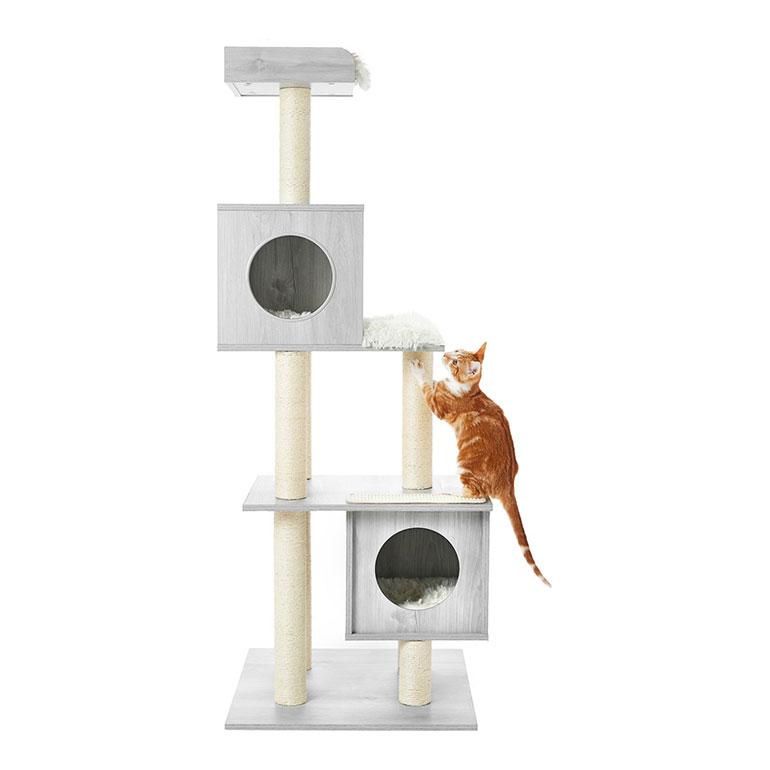 Frisco 62-in Modern Cat Tree & Condo
