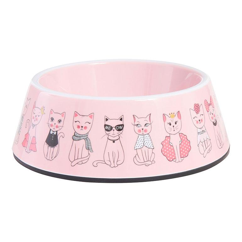 Frisco Pink Cute Cats Melamine Bowl