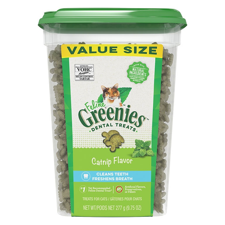 Greenies Feline Catnip Flavor Adult Dental Cat Treats