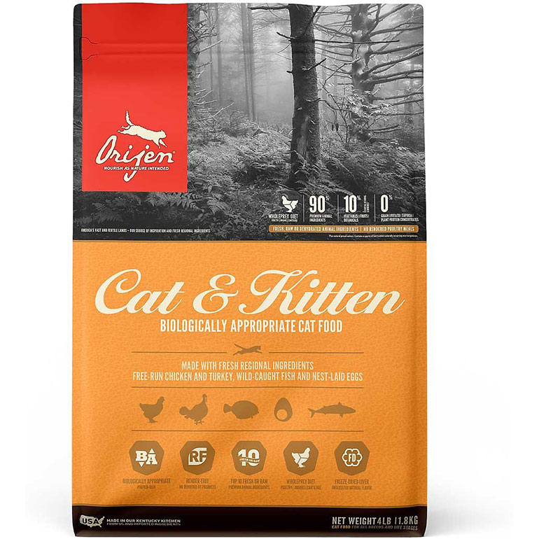 premium cat food - orijen cat and kitten food