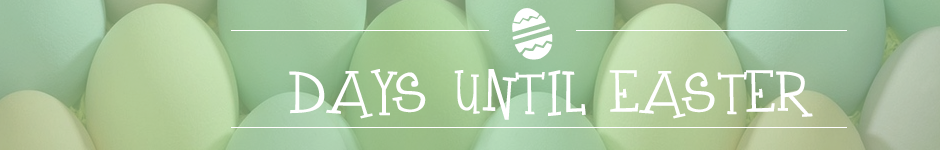 easter countdown banner