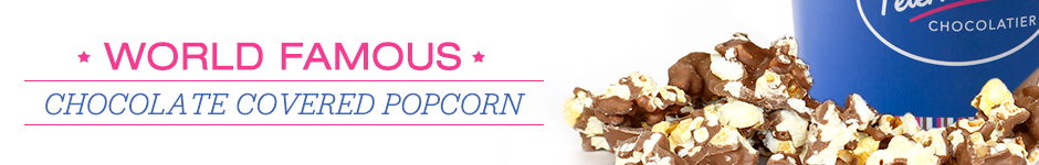World Famous Chocolate Covered Popcorn Banner