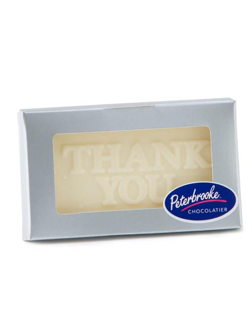 White Chocolate Thank You Bar