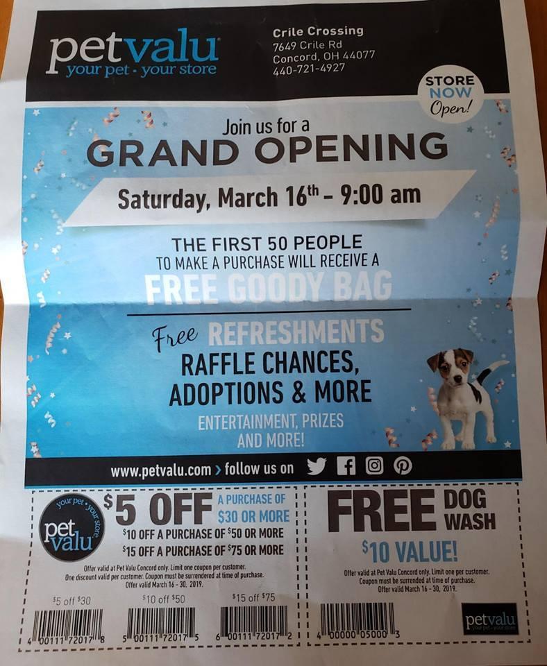 Grand Opening Pet Valu Concord Petfinder Event Calendar