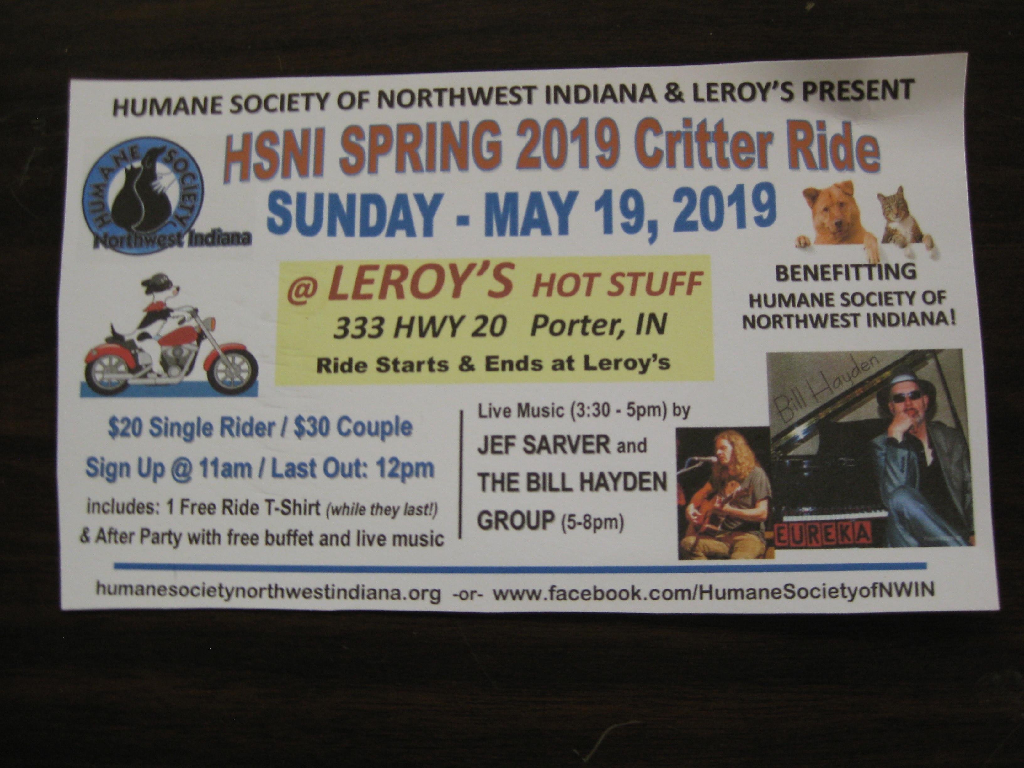 Critter Ride - Petfinder Event Calendar
