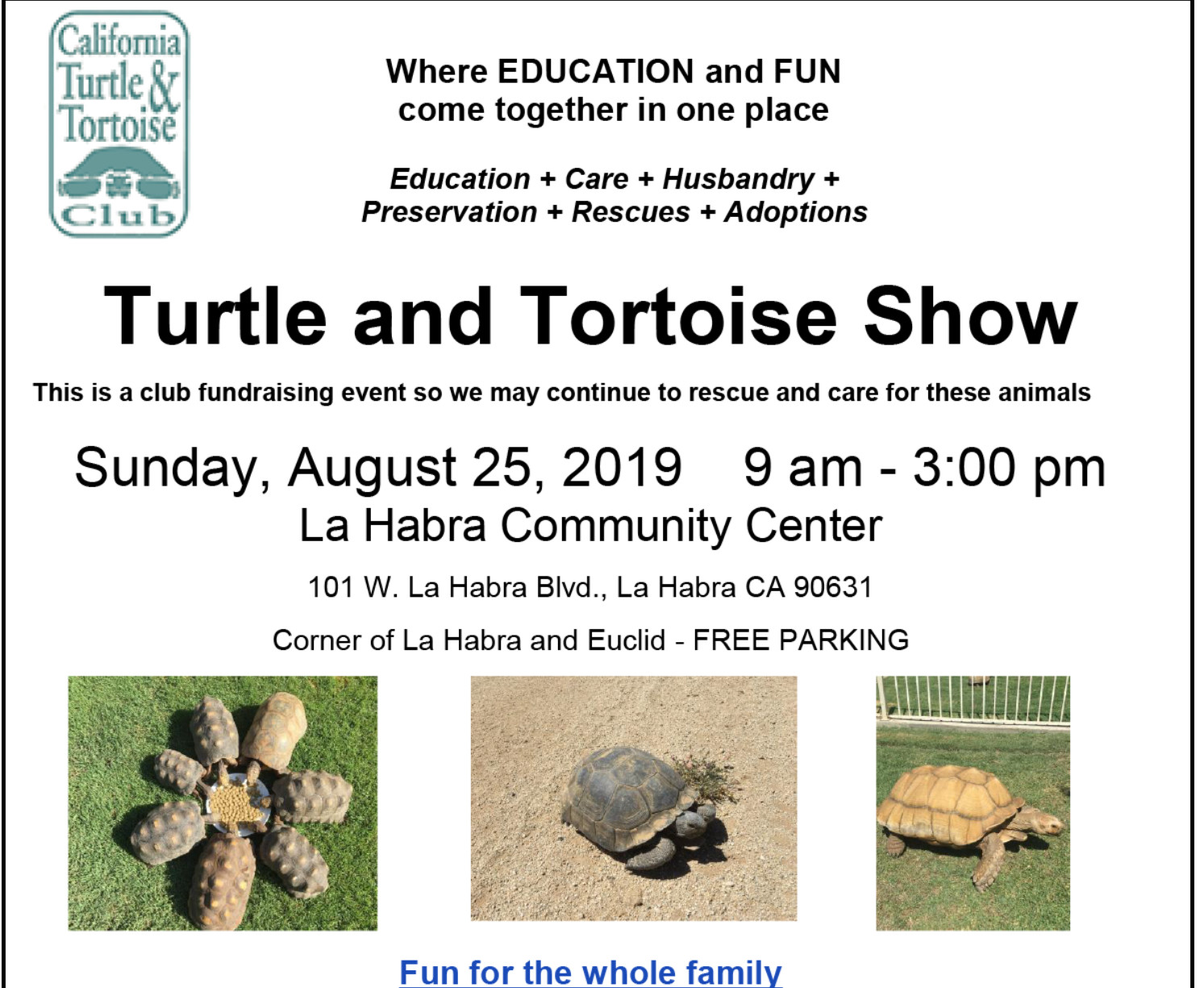 Turtle and Tortoise Show - Petfinder Event Calendar