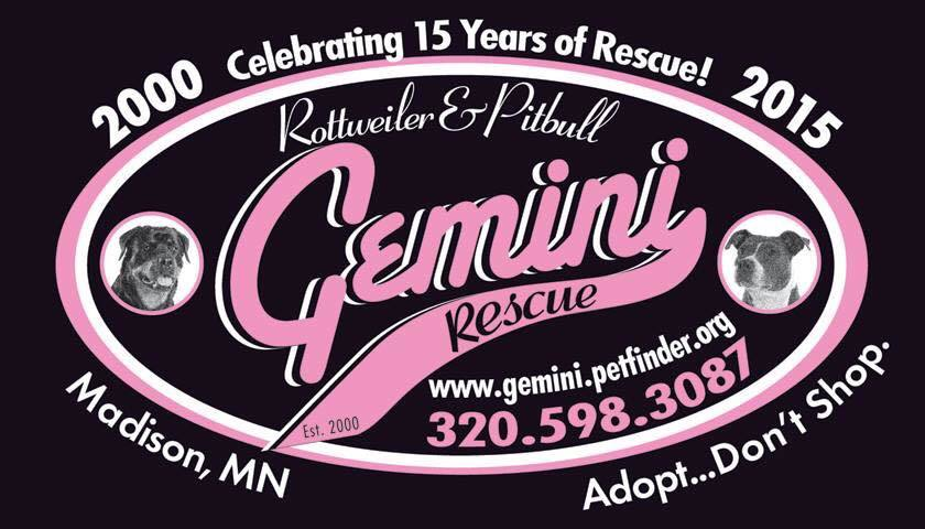 Pets for Adoption at Gemini Rottweiler and Pitbull Rescue, Inc , in