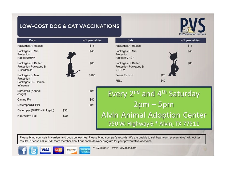 PVS is at AAAC every 2nd and 4th Saturday!
