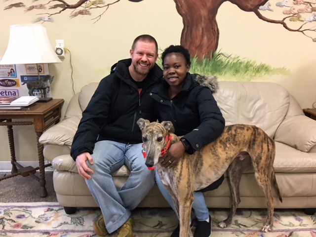 One of our many happy adoptions!