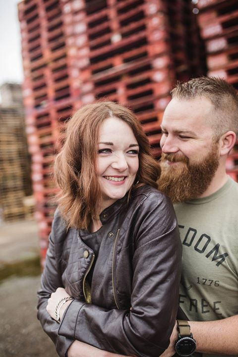 Founder and Director, Caitlin with husband, Matt