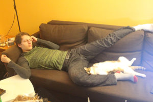 beau-sleeping-kenny-cat-back-lying-kitten