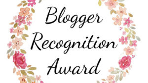 BLOGGER RECOGNITION AWARD!