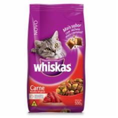 Ração Whiskas para Gatos Adultos Sabor Carne