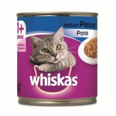 Ração Úmida Whiskas Lata para Gatos Adultos Sabor Peixe - 290g
