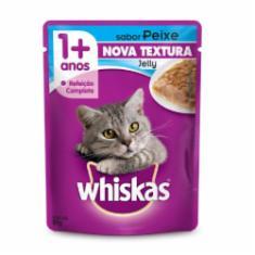Ração Úmida Whiskas Sachê Jelly para Gatos Adultos Sabor Peixe - 85g