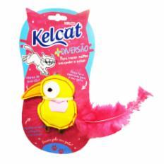 Brinquedo Kelcat Pássaro Pluma Colorido para Gatos