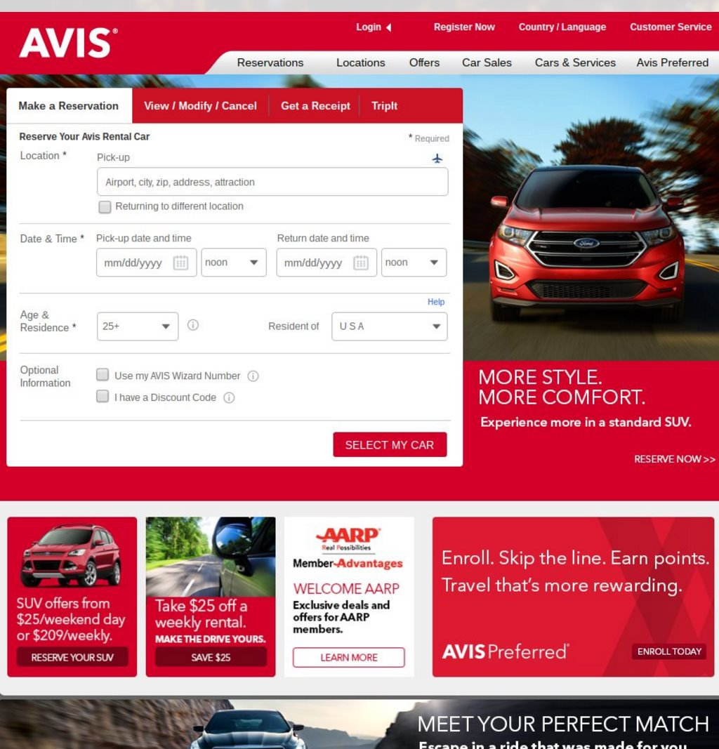 Rent Websites: Top 10 Website Designs For Car Rental Businesses 2016