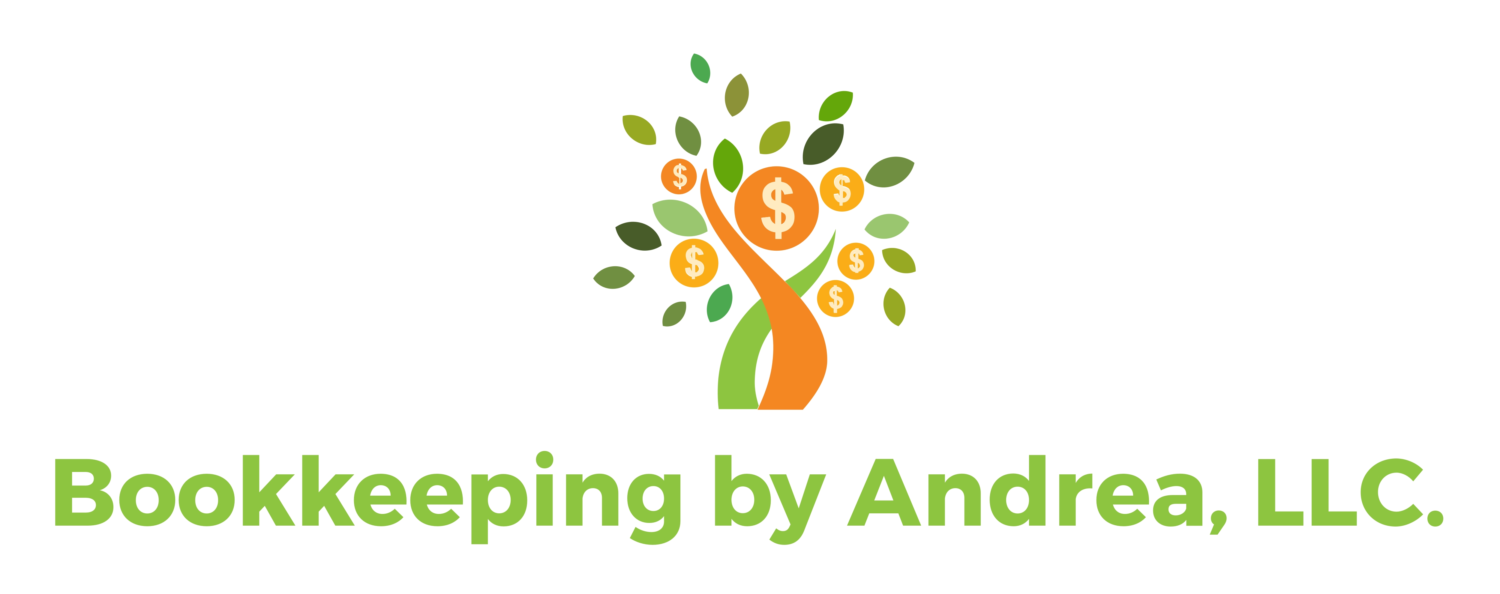 Bookkeeping by Andrea, LLC. Logo