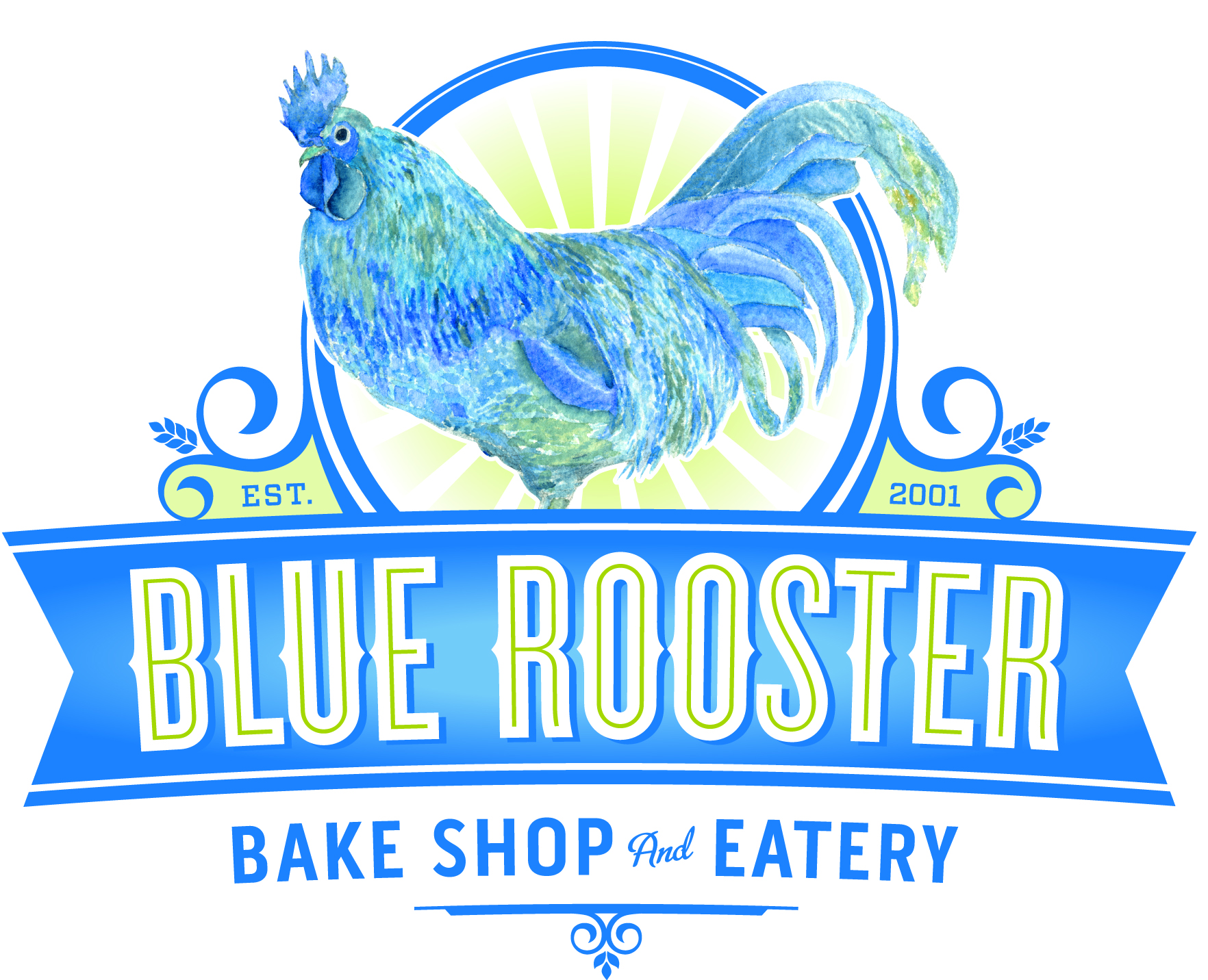 Blue Rooster Bake Shop & Eatery Logo