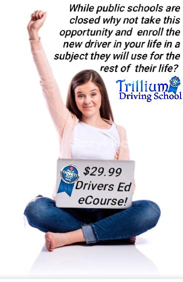 Trillium Driving Schools llc. Logo