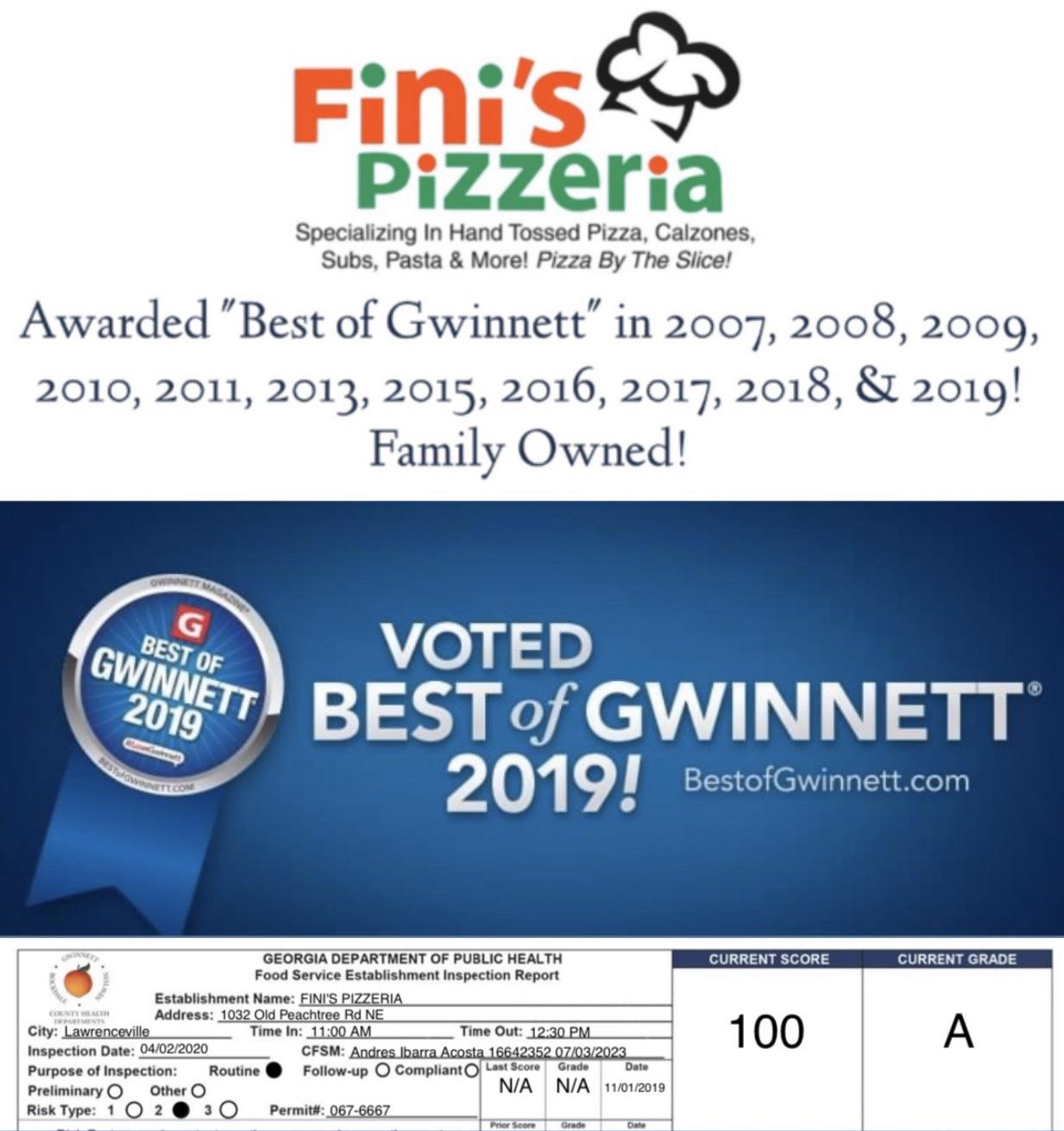 Fini's Pizzeria Logo