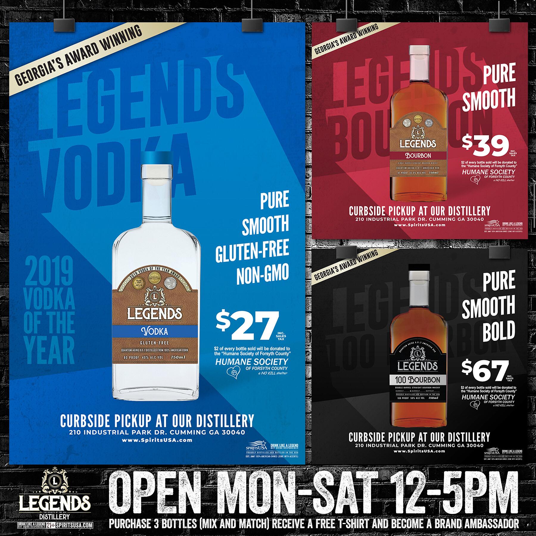 Legends Distillery | SpiritsUSA Logo