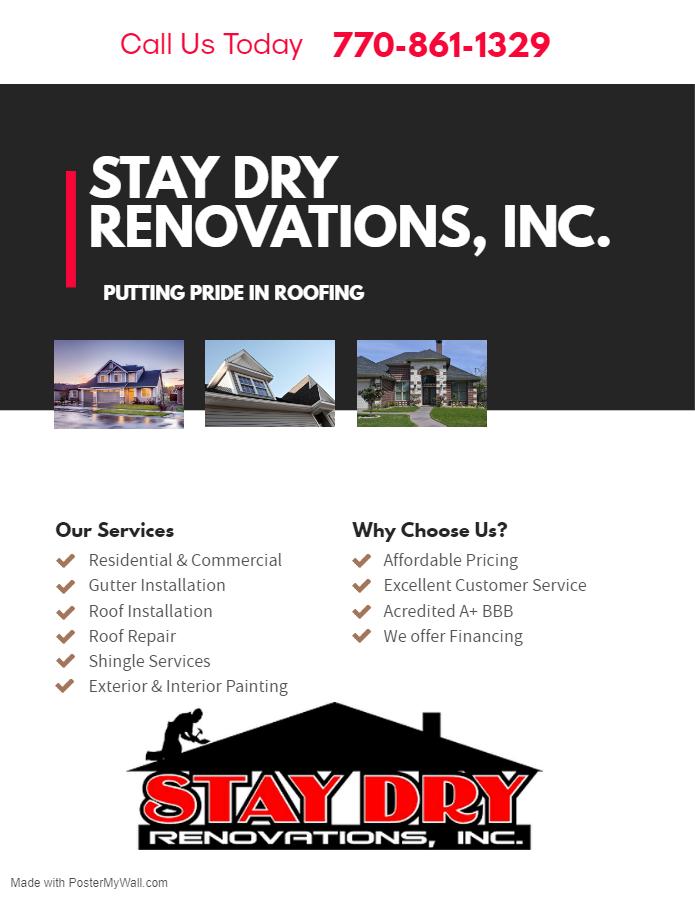 Stay Dry Renovations, Inc. Logo