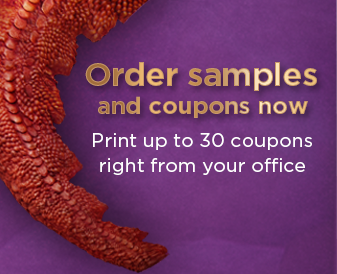 Order samples and coupons now