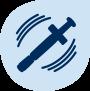 Shaken syringe