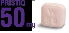 PRISTIQ® (desvenlafaxine) 50 mg pill