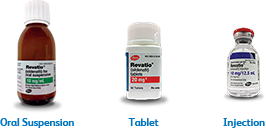 Revatio (sildenafil) formulations