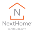Nexthome capital realty logo vertical orangeonwhite web rgb