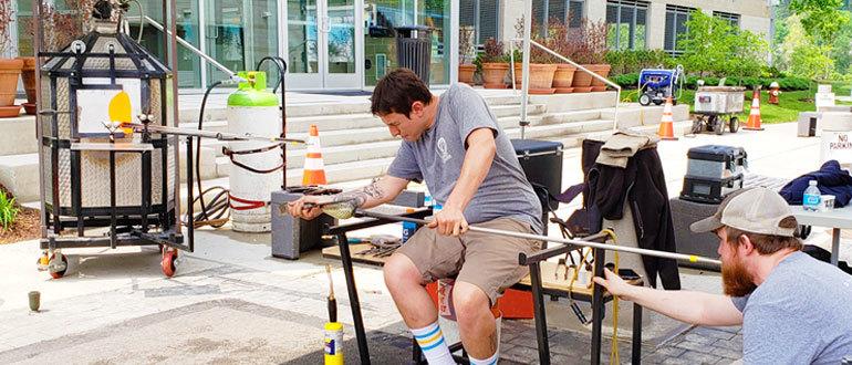 Hot Wheels - Pittsburgh Glass Center's mobile glass studio
