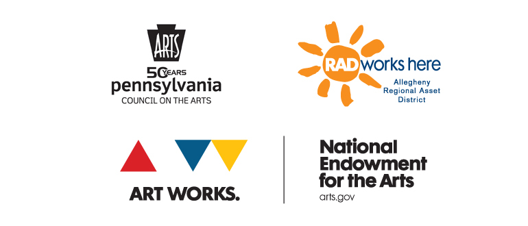logo for Pennsylvania Council on the Arts, Allegheny Regional Asset District, and the National Endowment for the Arts