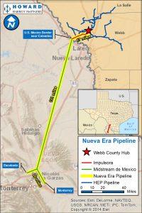 Impulsora Crossing Project map (part of Nueva Era Pipeline Project)